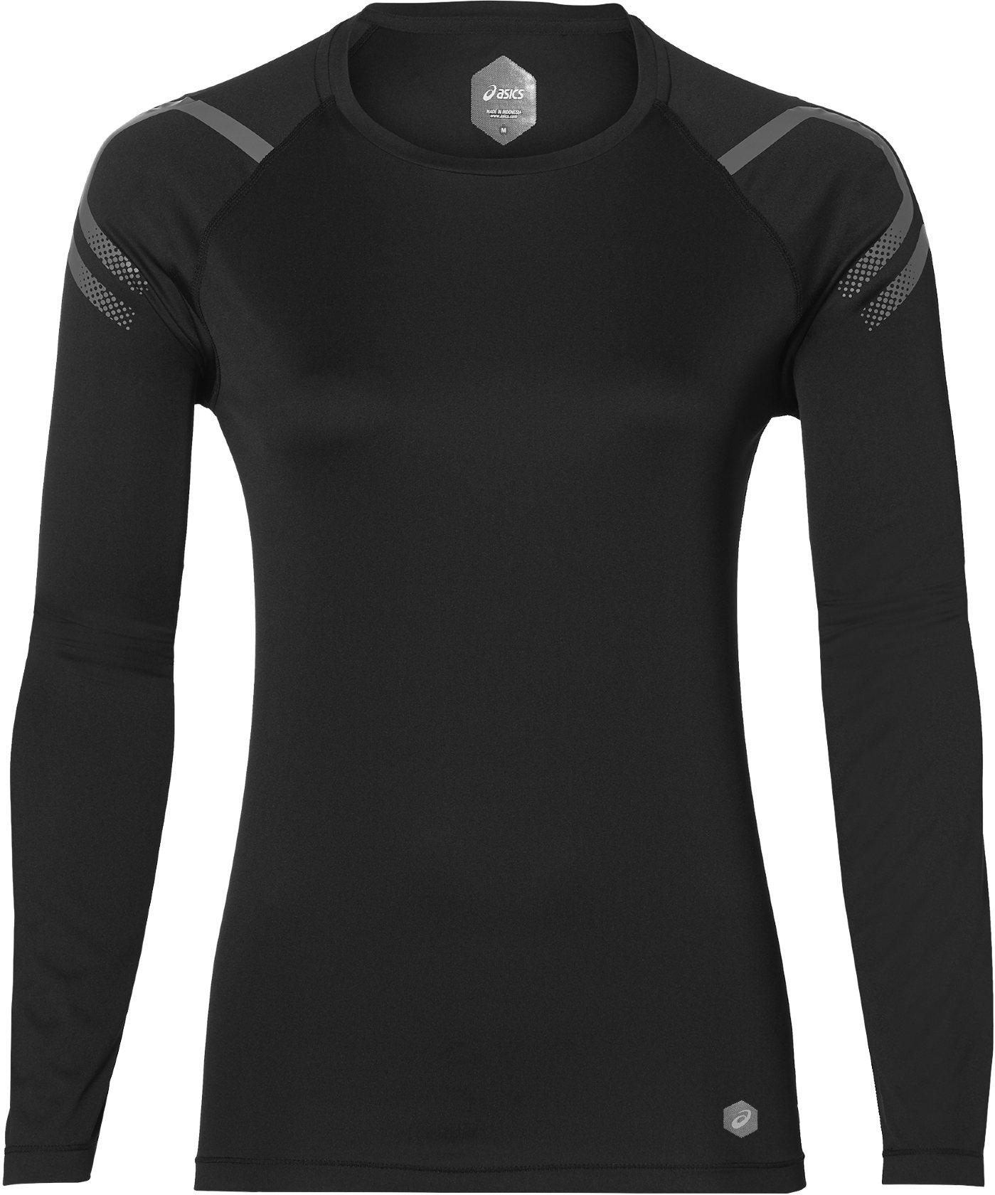 Купить Футболка с длинным рукавом беговая Asics 2018 ICON LS TOP PERFORMANCE BLACK, Одежда для бега и фитнеса, 1394559