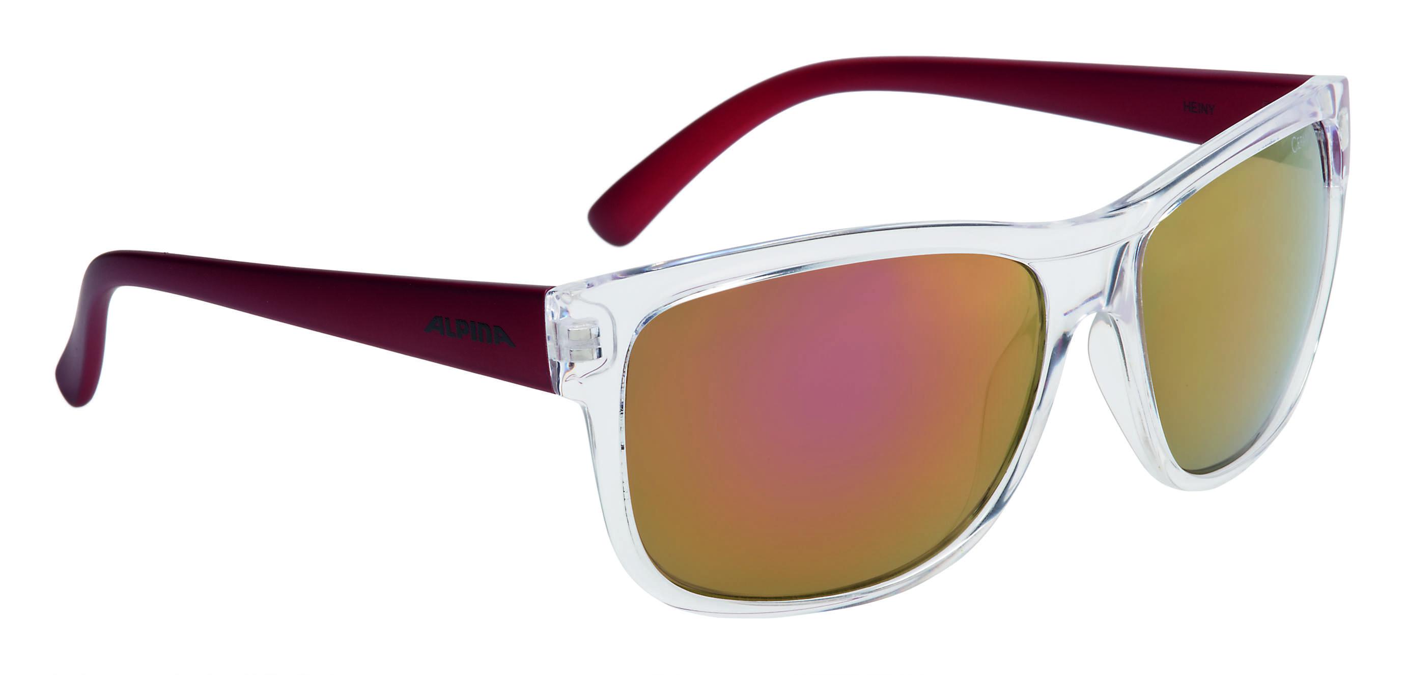 Купить Очки солнцезащитные Alpina SPORT STYLE HEINY transparent-red, солнцезащитные, 1180625