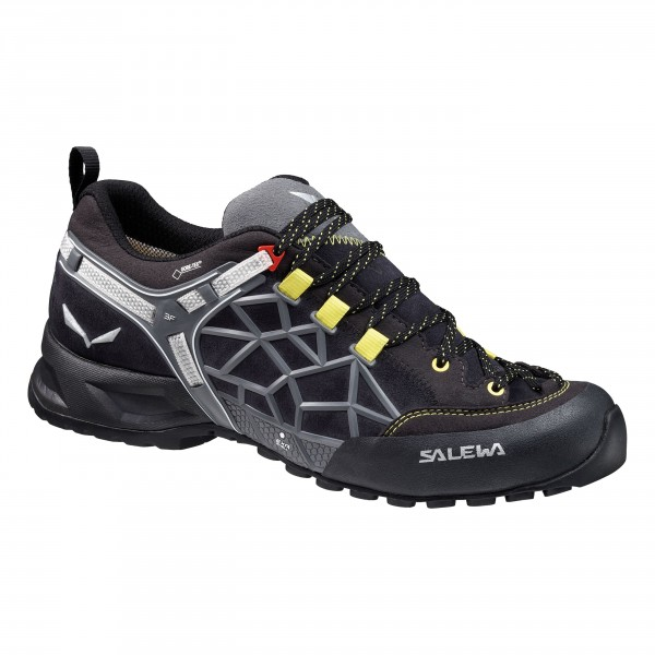 Купить Ботинки для треккинга (низкие) Salewa 2017 MS WILDFIRE PRO GTX Black Out/Yellow Треккинговая обувь 1157839