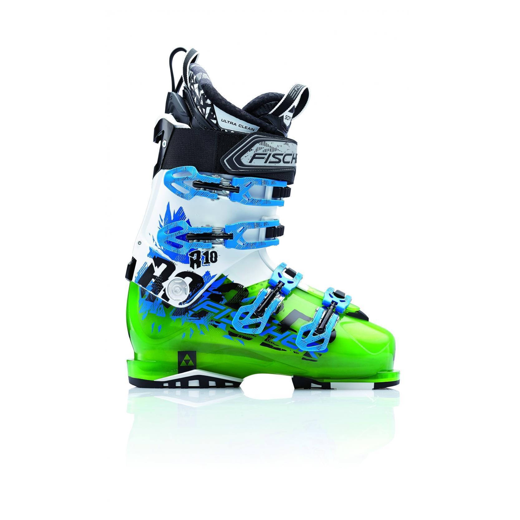 Купить Горнолыжные ботинки FISCHER 2014-15 Ranger 10 GreenTransp./White, Ботинки горнoлыжные, 1142981