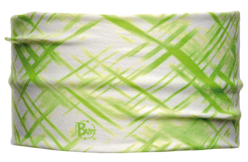 Повязка BUFF HEADBAND BUFF CROSS BLANC/VERD