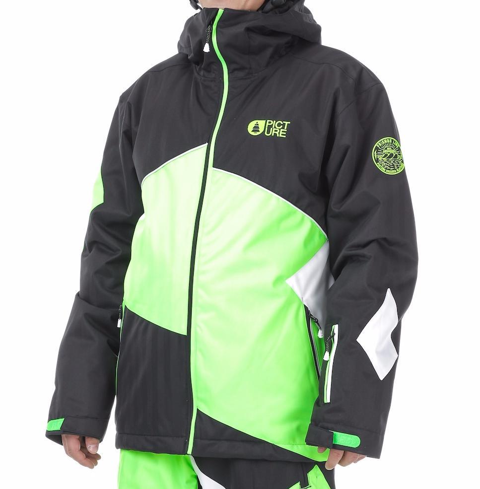 Купить Куртка сноубордическая Picture Organic 2016-17 STYLER JKT A Black/Neon Green/White Одежда 1306650