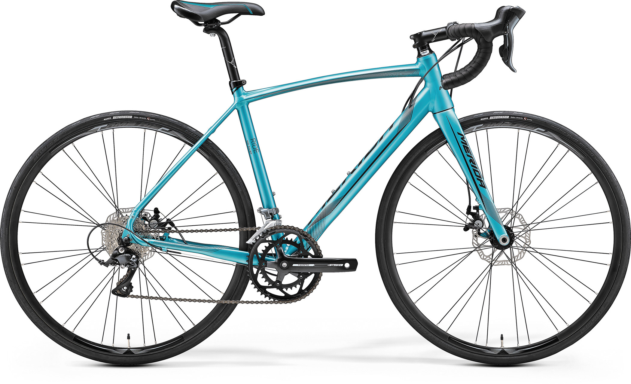 Велосипед Merida Ride Disc 100-Juliet 2017 Silk Petrol Blue - Black