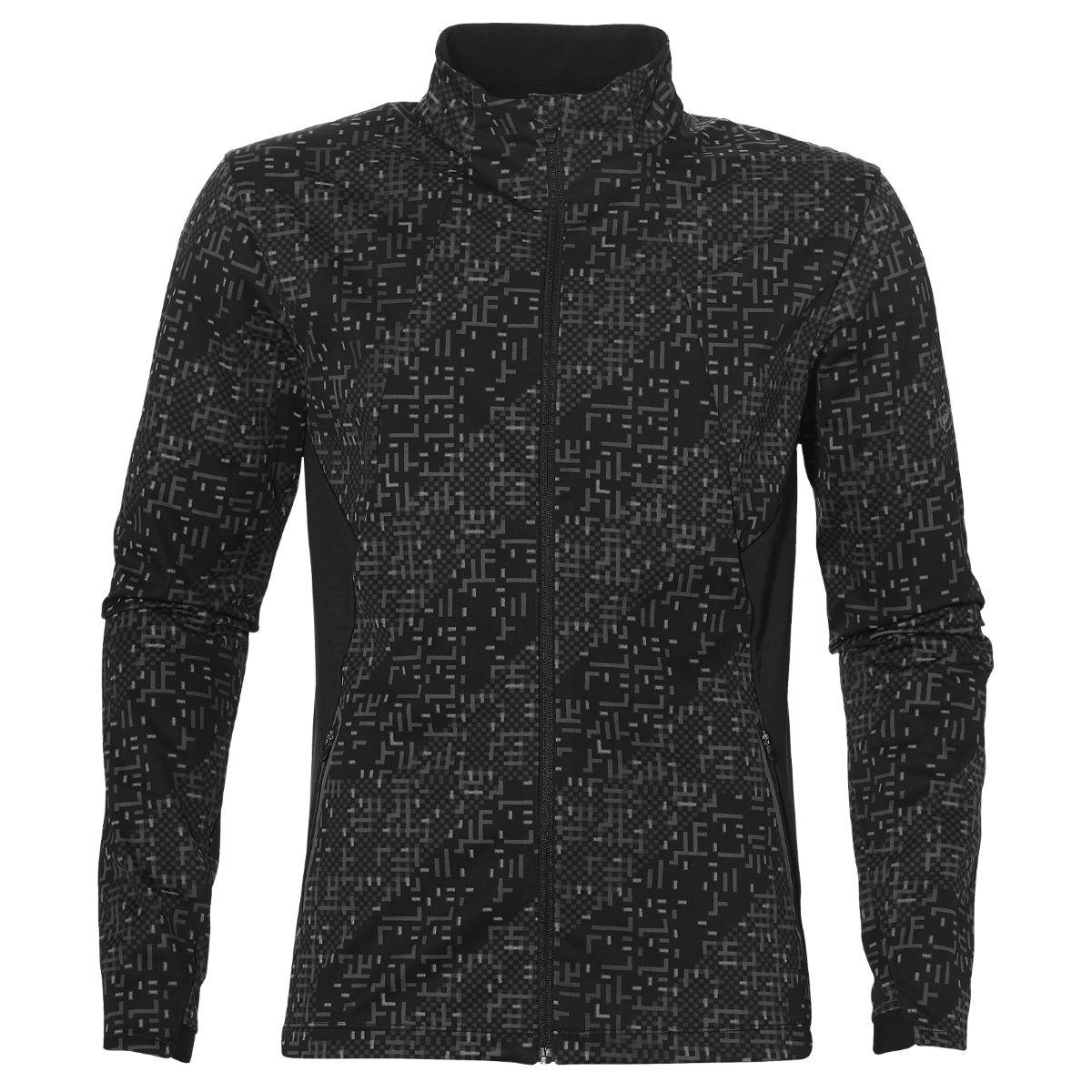 Купить Куртка беговая Asics 2017-18 LITE-SHOW WINTER JACKET ЧЕРНЫЙ, Одежда для бега и фитнеса, 1350998