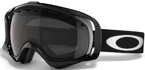 Очки горнолыжные Oakley Crowbar jet black/grey polarized