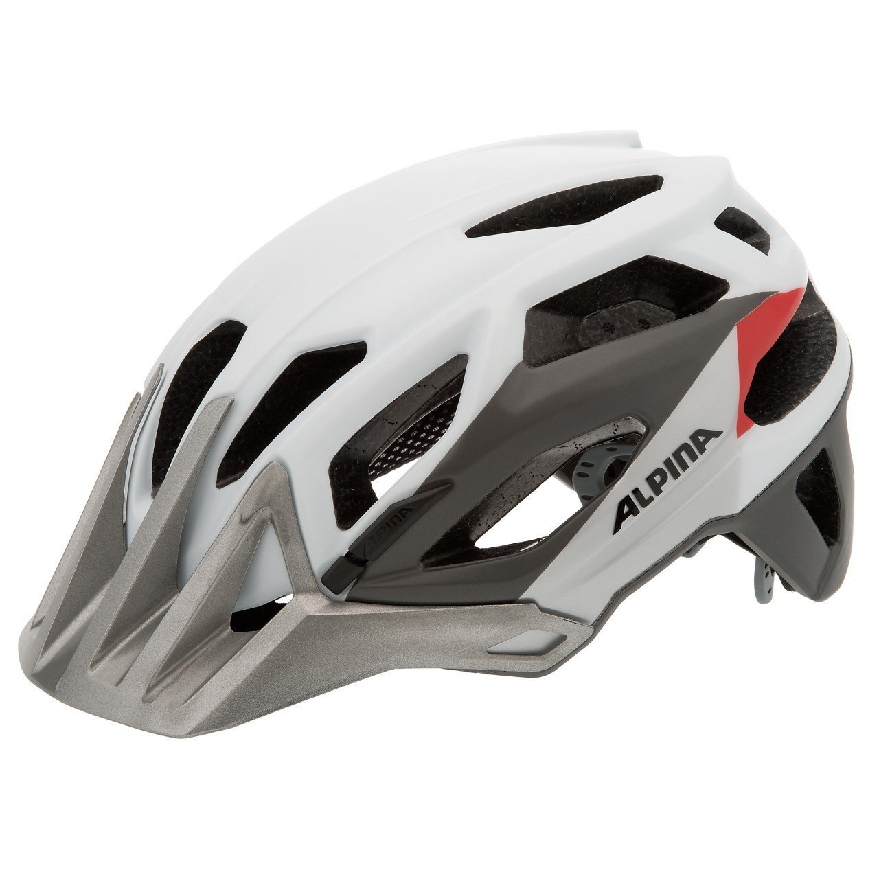 Купить Летний шлем Alpina Enduro Garbanzo white-silver-red, Шлемы велосипедные, 1179851