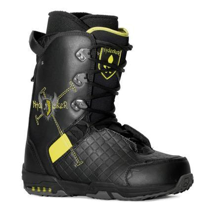 Купить Ботинки для сноуборда NIDECKER 2009-10 Absolute black/lime, сноуборда, 598587