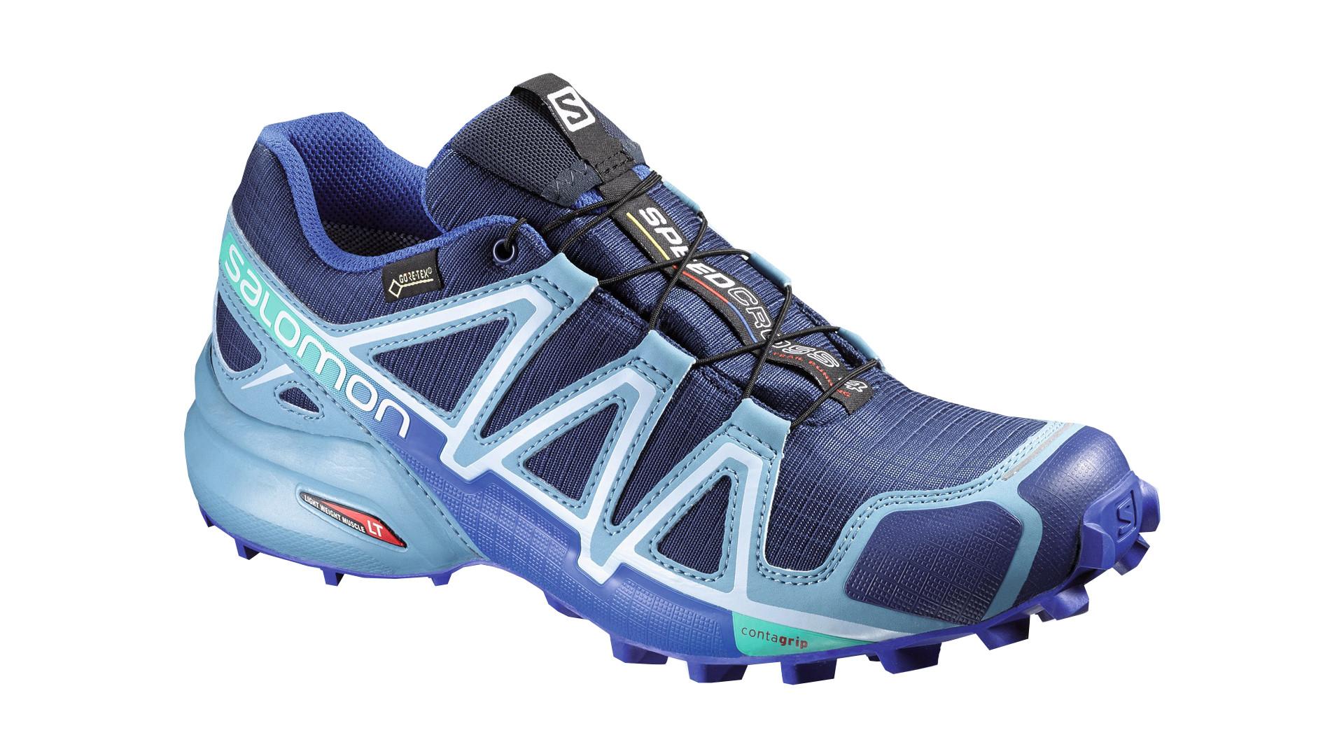 Беговые кроссовки для XC SALOMON 2016-17 SHOES SPEEDCROSS 4 GTX W Blue Кроссовки бега 1270589  - купить со скидкой