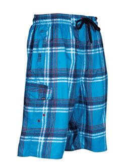 Купить Шорты для активного отдыха RIPZONE 2012 PLAID Electric Blue Combo голубой/принт Одежда туристическая 788055