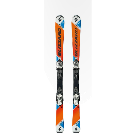 Горные лыжи с креплениями Blizzard 2015-16 RTX JR + FASTRACK JR4.5 S ORANGE-WHITE-BLUE