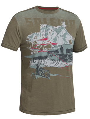 Футболка для активного отдыха Salewa 5 Continents TRANSUMANZE CO M S/S TEE evergreen/0780