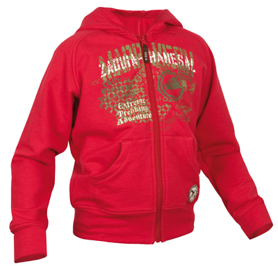 Флис для активного отдыха Salewa Kids AZILA SWEAT KID JKT (red) красный