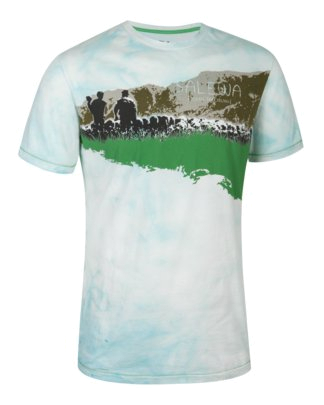 Футболка для активного отдыха Salewa Outdoor FLOCK CO M S/S TEE white/5470