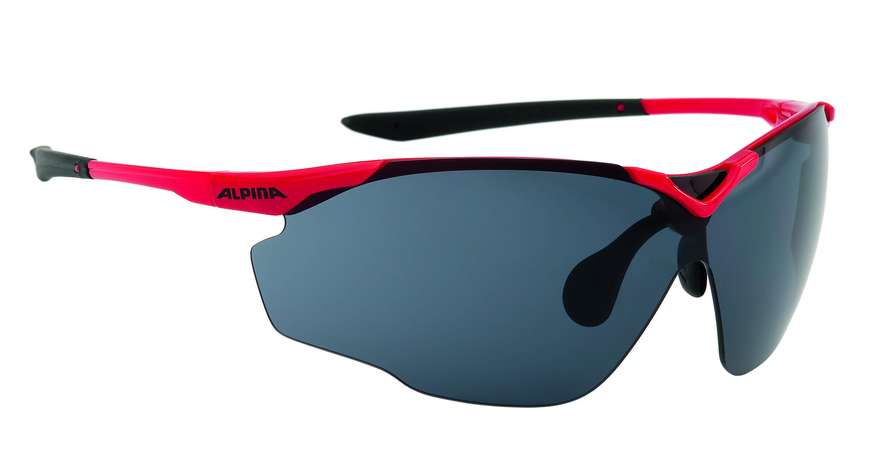 Купить Очки солнцезащитные Alpina PERFORMANCE SPLINTER SHIELD red-black, солнцезащитные, 1180551