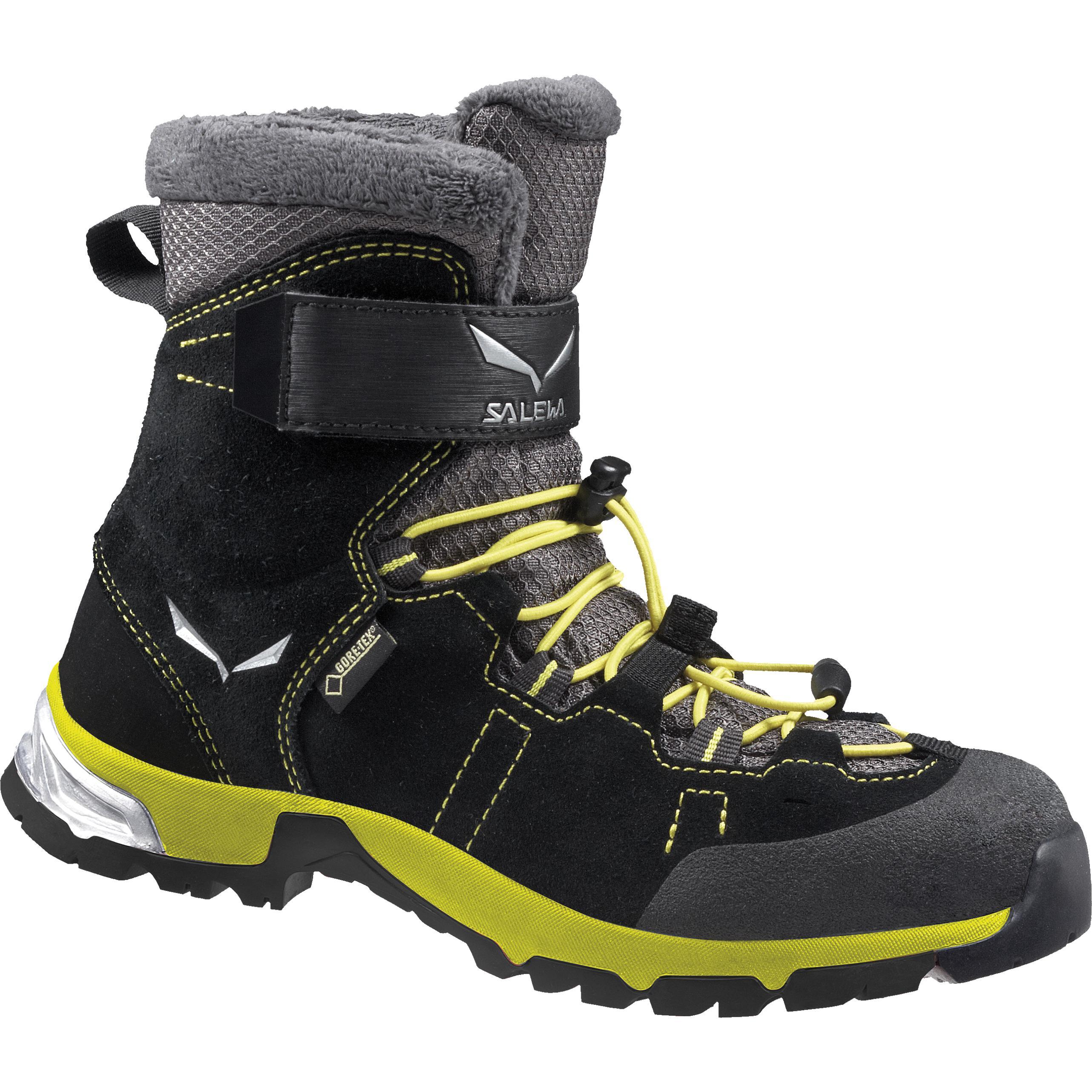 Купить Ботинки городские (высокие) Salewa 2017-18 JR SNOWCAP GTX Black/Yellow Зимняя обувь 1205785