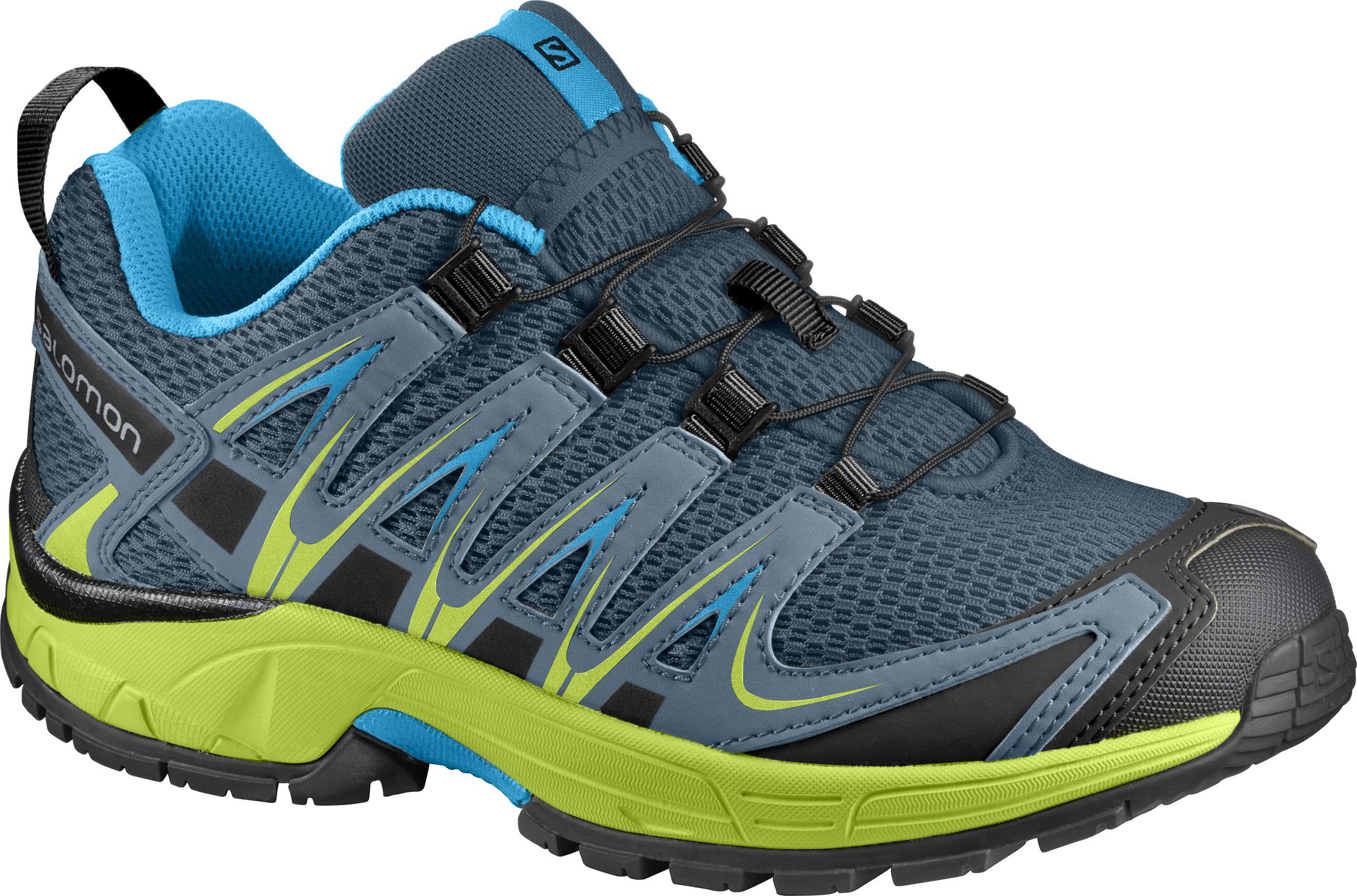 Купить Беговые кроссовки для XC SALOMON 2018 XA PRO 3D J Reflecting Pond/Lime Green/Hawaiian, Кроссовки бега, 1400222
