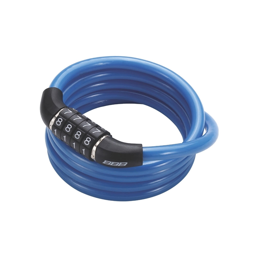 Замок Велосипедный Bbb Quickcode 8Mm X 1200Mm Coil Cable Blue Синий