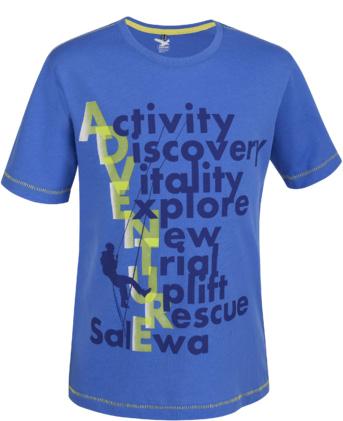Купить Футболка для активного отдыха Salewa Kids EXPLORING CO K S/S TEE azures/5160 pr.1 Детская одежда 1022769