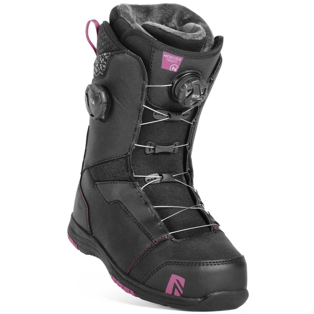 Ботинки для сноуборда NIDECKER 2018-19 Trinity Boa Fcs Black ... 400c3a6be66