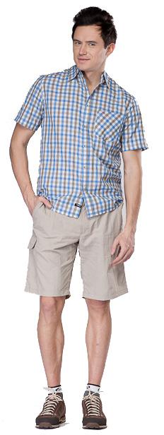 Купить Рубашка для активного отдыха MAIER 2012 LARRY PRINT синий/принт Одежда туристическая 787327