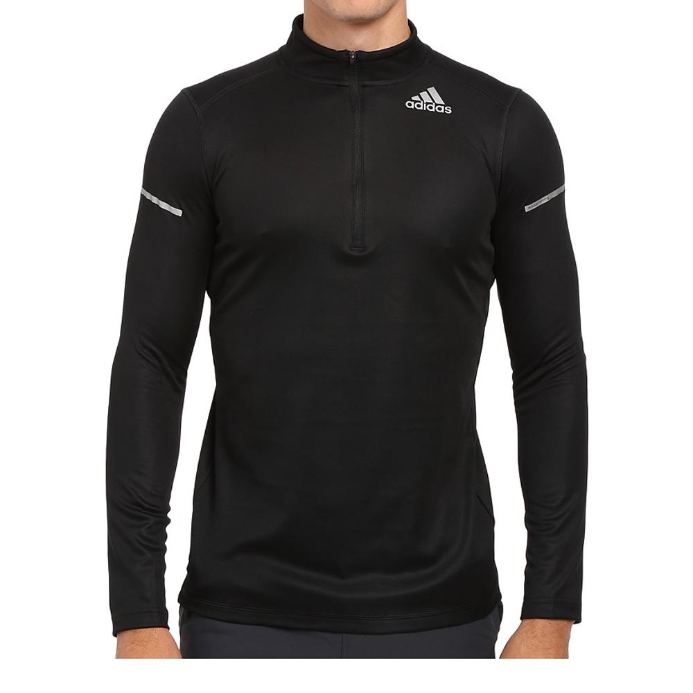 Купить Футболка с длинным рукавом беговая Adidas 2016 SQ CC HZ L/S M BLACK/EQTGRN Одежда для бега и фитнеса 1247857