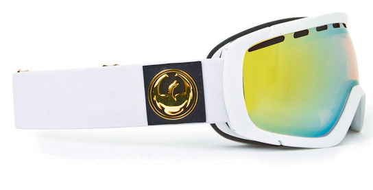 Очки горнолыжные DRAGON Rogue White/Gold lonized