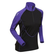 Купить Футболка с длинным рукавом беговая Bjorn Daehlie Top FINNMARK Women Tillandsia Purple/Black (фиолетовый/черный) Одежда для бега и фитнеса 858932