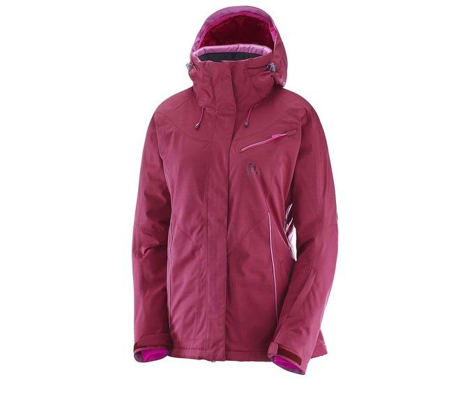Купить Куртка горнолыжная SALOMON 2017-18 FANTASY JKT W Beet Red Heather, Одежда горнолыжная, 1382173