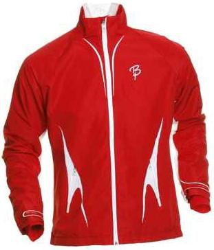 Купить Куртка беговая Bjorn Daehlie Jacket AMBITION (Formula One/Snow White/Silver) красный/белый Одежда для бега и фитнеса 647938