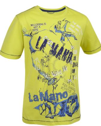 Купить Футболка для активного отдыха Salewa Kids EXPLORING CO K S/S TEE citro/3720 pr.2 Детская одежда 916824