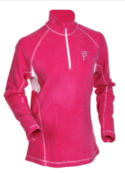 Флис беговой Bjorn Daehlie Half Zip MOTION Women (Raspberry Rose/Snow White) розовый