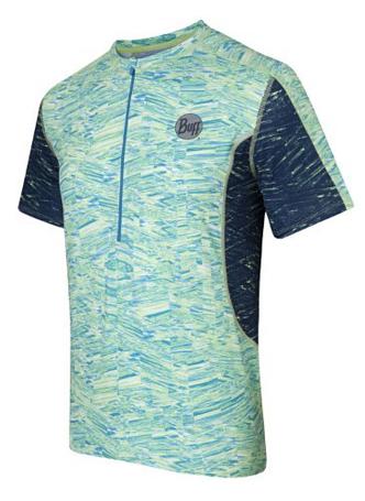 Купить Футболка беговая BUFF 1054 S/SL T-SHIRT (SHARP) салатовый, Одежда для бега и фитнеса, 882712