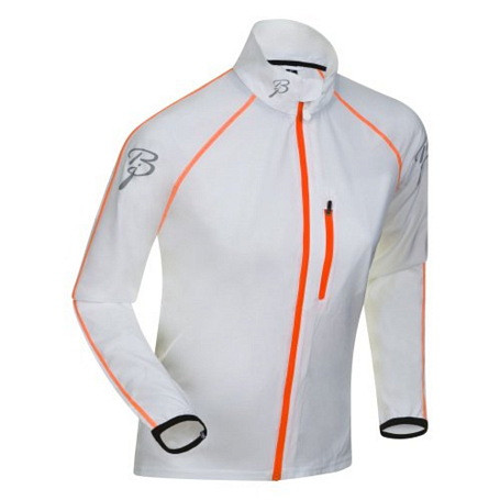 Купить Жакет беговой Bjorn Daehlie Jacket IMPACT Women 12007 (bright white/shocking orange) белый/оранж, Одежда для бега и фитнеса, 831299