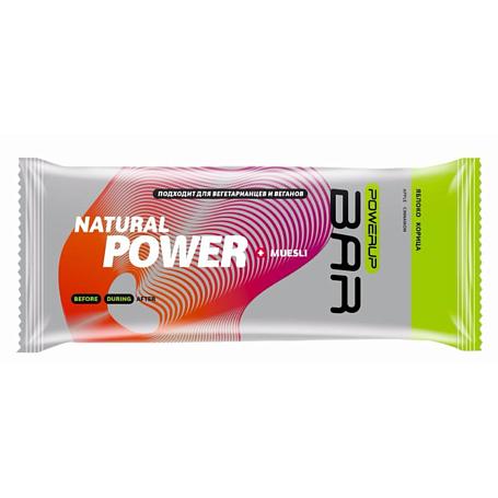 Купить Батончик POWERUP Энергетический батончик FRUIT+NUTS 50г. MUESLI яблоко, корица Спортивное питание 1313144