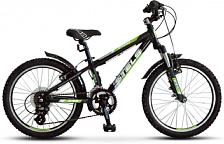 """Велосипед6-9 лет (колеса 20)<br>Велосипед для детей в возрасте от 5 до 9 лет, с оборудованием Shimano и 12 скоростями. В основе прочная алюминиевая рама, амортизированная вилка, двойные алюминиевые обода, ручные ободные&amp;nbsp;&amp;nbsp;тормоза типа V-Brake. Может использоваться для обучения и прогулок как по улицам, так и&amp;nbsp;&amp;nbsp;лесу.<br><br>Диаметр колес&amp;nbsp;&amp;nbsp;&amp;nbsp;&amp;nbsp;20<br>Размер рамы&amp;nbsp;&amp;nbsp;&amp;nbsp;&amp;nbsp;11""""<br>Рама &amp;#40;материал&amp;#41;&amp;nbsp;&amp;nbsp;&amp;nbsp;&amp;nbsp;алюминий<br>Количество скоростей&amp;nbsp;&amp;nbsp;&amp;nbsp;&amp;nbsp;12<br>Цвет рамы / элементы дизайна&amp;nbsp;&amp;nbsp;&amp;nbsp;&amp;nbsp;белый/чёрный/салатовый<br>Вилка передняя&amp;nbsp;&amp;nbsp;&amp;nbsp;&amp;nbsp;SR SUNTOUR XCT, ход 40мм<br>Рулевая колонка&amp;nbsp;&amp;nbsp;&amp;nbsp;&amp;nbsp;VP, сталь<br>Каретка&amp;nbsp;&amp;nbsp;&amp;nbsp;&amp;nbsp;VP, картридж<br>Система&amp;nbsp;&amp;nbsp;&amp;nbsp;&amp;nbsp;LASCO, сталь, 42/34T<br>Втулка передняя&amp;nbsp;&amp;nbsp;&amp;nbsp;&amp;nbsp;JOYTECH, сталь<br>Втулка задняя&amp;nbsp;&amp;nbsp;&amp;nbsp;&amp;nbsp;JOYTECH, сталь<br>Кассета / Трещотка&amp;nbsp;&amp;nbsp;&amp;nbsp;&amp;nbsp;SHIMANO Tourney, MF-TZ20<br>Передний переключатель скоростей&amp;nbsp;&amp;nbsp;&amp;nbsp;&amp;nbsp;SHIMANO Altus, FD-M190<br>Задний переключатель скоростей&amp;nbsp;&amp;nbsp;&amp;nbsp;&amp;nbsp;SHIMANO Tourney, RD-TY21<br>Шифтеры&amp;nbsp;&amp;nbsp;&amp;nbsp;&amp;nbsp;SHIMANO Tourney, SL-RS36<br>Тормоза&amp;nbsp;&amp;nbsp;&amp;nbsp;&amp;nbsp;TEKTRO, V-типа<br>Обода&amp;nbsp;&amp;nbsp;&amp;nbsp;&amp;nbsp;алюминий, двойные<br>Покрышки&amp;nbsp;&amp;nbsp;&amp;nbsp;&amp;nbsp;CHAO YANG, 20x2.0<br>Крылья&amp;nbsp;&amp;nbsp;&amp;nbsp;&amp;nbsp;сталь<br>Педали&amp;nbsp;&amp;nbsp;&amp;nbsp;&amp;nbsp;FEIMIN, пластик<br>Седло&amp;nbsp;&amp;nbsp;&amp;nbsp;&amp;nbsp;Cionlli<br><br>Пол: Мужской<br>Возраст: Юниорский"""