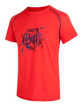 Купить Футболка беговая BUFF T-SHIRT S.SL. SELLERS FIERY (красный/синий) Одежда туристическая 878095