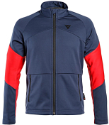 Джемпер горнолыжный Dainese 2018-19 HP2 MID FULL ZIP MAN 2.0 BLACK IRIS/CHILI PEPPER/HIGH RISK RED