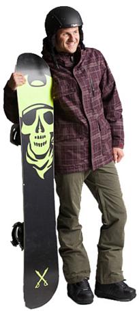 Купить Куртка сноубордическая RIPZONE 2013-14 X5 MUTINY JACKET - PLAID Wine Combo Одежда 1022436