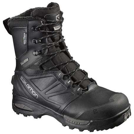 Купить Ботинки городские (высокие) SALOMON 2017-18 TOUNDRA PRO CSWP Black/Black/Autobahn Зимняя обувь 1350841