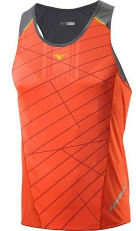 Купить Майка беговая Mizuno 2014 DryLite Premium Singlet оранж, Одежда для бега и фитнеса, 1139447
