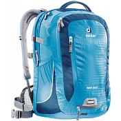РюкзакРюкзаки универсальные<br>Городской рюкзак Deuter Giga Bike объединяет в себе качества офисного и велосипедного рюкзака. <br>Сверхпрочный, хорошо организованный рюкзак разработан специально для людей, которые регулярно ездят в школу, университет или в офис. <br>Для любитель быстрой езды, рюкзак для велосипеда снабжен набедренным поясом для плотного прилегания к спине.<br>- система спинки Airstripes и сетчатые крылья набедренного пояса<br>- большое основное отделение, в котором помещаются папки для бумаг<br>- дно имеет мягкую подкладку<br>- компрессионные стропы<br>- съемный держатель шлема<br>- удобная ручка для переноски<br>- большой передний карман на молнии с органайзером<br>- съемный набедренный ремень<br>- петля с отражателем<br>- второе основное отделение под ноутбук 17 дюймов<br>- боковой сетчатый карман<br>- съемный чехол от дождя яркого цвета<br>- отражатели 3М<br>- стабилизирующие ремни<br>Вес: 1200 г<br>Объем: 28 л<br>Размер: 46/31/23 &amp;#40;В х Ш х Г&amp;#41; см