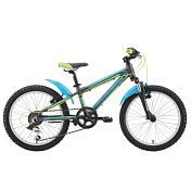 """Велосипед6-9 лет (колеса 20)<br>Детский &amp;nbsp;велосипед Silverback SPYKE 20 2015. Модель оборудована алюминиевой рамой. Установленны пружинно-эластомерная вилка SR Suntour M3010 40MM, ободные механические тормоза, а также начальное оборудование. Silverback SPYKE 20 2015 непременно обрадует Вашего малыша, обеспечив безопасность при катании и радость от весёлых поездок.<br> <br> Рама и амортизаторы<br> <br> Рама: 6061 Custom Butted Alloy<br> Вилка: SR Suntour M3010 40MM<br> <br> Цепная передача<br> <br> Манетки: Shimano RS35 6spd<br> Задний переключатель: Shimano TY21 6 Speed<br> Шатуны: Pro-wheel B36PP 36T<br> Кассета: Shimano TZ20, 6 Speed, 14-28T<br> Педали6 VP Components<br> <br> Колеса<br> <br> Обода: Weimann CN520<br> Bтулка: Joytech 731SE<br> Покрышка:&amp;nbsp;KENDA 20"""" x 2.0""""<br> <br> Компоненты<br> <br> Передний тормоз: TEKTRO J310 V-brake<br> Задний тормоз: TEKTRO J310 V-brake<br> Грипсы: SBC custom single density<br><br>Пол: Унисекс<br>Возраст: Юниорский"""