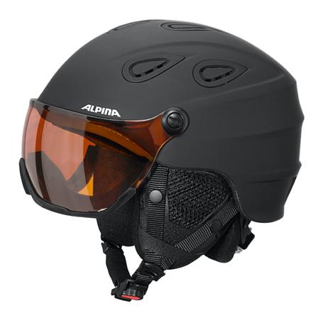 Купить Зимний Шлем Alpina GRAP Visor HM black matt, Шлемы для горных лыж/сноубордов, 1279940