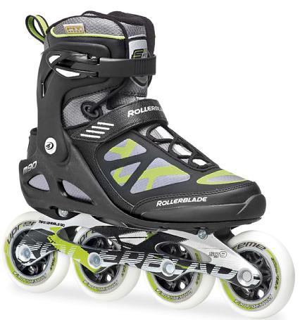Купить Роликовые коньки Rollerblade 2014 MACROBLADE 90 BLACK/GREEN, Ролики взрослые, 1076193