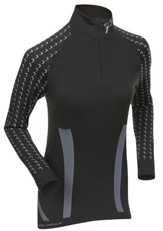 Купить Футболка с длинным рукавом Bjorn Daehlie Half Zip MOTIVATOR Women Black/Ebony (черный/серый) Одежда лыжная 859973