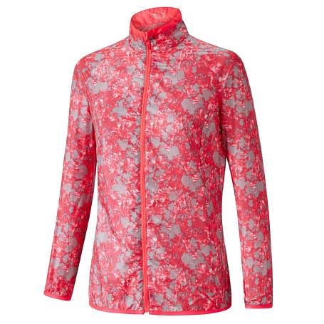 Купить Куртка беговая Mizuno 2017 Premium Aero Jacket роз/сер, Одежда для бега и фитнеса, 1334679