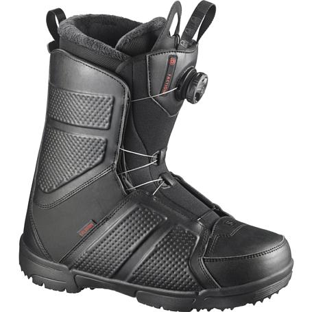 Купить Ботинки для сноуборда SALOMON 2017-18 FACTION BOA BLACK, сноуборда, 1360491