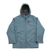 Куртка сноубордическаяОдежда сноубордическая<br>- Пол: Мужской/Женский<br>- Материал: 97% Cotton, 3% Polyurethane<br>- Мембрана: 10,000 mm/7,000 g<br><br>Характеристики<br>- ROMP Comfort 2-Layer ткань<br>- Покрытие Dupont Teflon Fabric Protector<br>- Утеплитель 2oz<br>- Полностью проклеены швы<br>- Теплые карманы с микрофлисом, на молнии <br>- Вставка из Микрофлиса на воротнике для комфорта подбородка<br>- Вентиляция, матерчатая сетка на молнии<br>- Внутренний карман для плеера или телефона с отверстием для кабеля наушников<br>- Снегозащитная юбка с системой соединяющей куртку и штаны