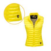 Жилет для активного отдыхаОдежда для активного отдыха<br>Жилет из 100% полиэстера, наполнитель пух. Молния спереди и два боковых кармана. Внутренняя часть другого цвета с карманами.