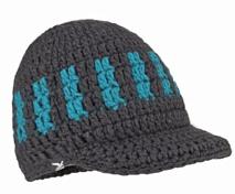 ШапкаГоловные уборы<br>Шапка с козырьком, стилизованная под ручную вязку крючком. <br>- козырек анатомического кроя<br>- с флисовым ободком изнутри для дополнительного тепла<br>- грубая структураНазначение: катание на горных лыжах, зимние походы &amp;#40;альпинизм&amp;#41; на снегоступах, зимний туризм &amp;#40;хайкинг&amp;#41;, каникулы в горах, альпинизм как стиль жизни.